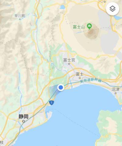 新幹線富士山_グーグルマップ