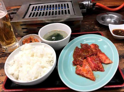ホルモン食堂食楽_カルビ定食