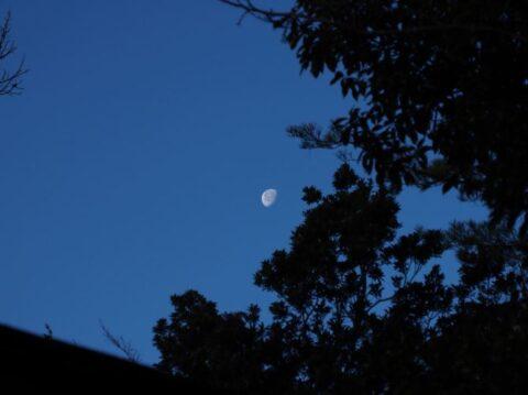 摂津峡と残月
