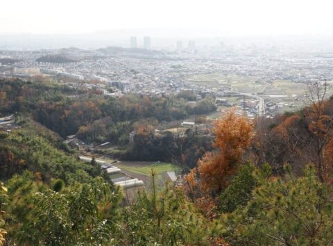 摂津峡展望台の眺望
